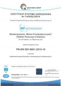 certyfikat ISO