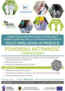 Plakat projektu Pomorska Aktywność Zawodowa